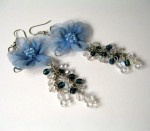 The Flower Collection-Blue and Crystals
